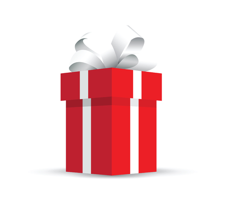 red present gift vector illustration