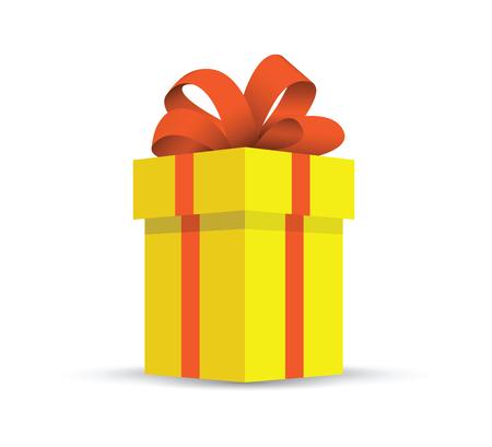cadeau présent jaune