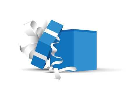 blue opened present