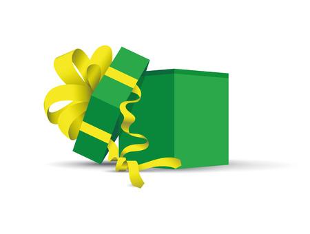 Vert ouvert présent. Illustration