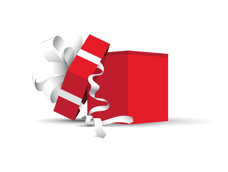 Red opened present.