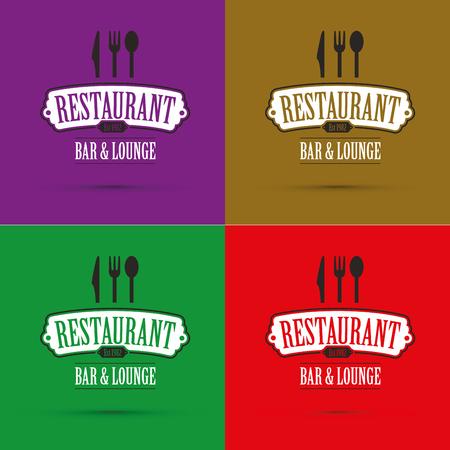 Restaurant banners set. Illustration