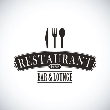 Concept de vecteur de conception de restaurant noir.
