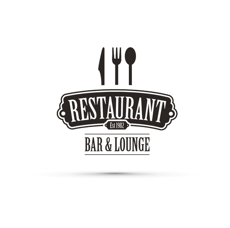 Black restaurant design vector concept.