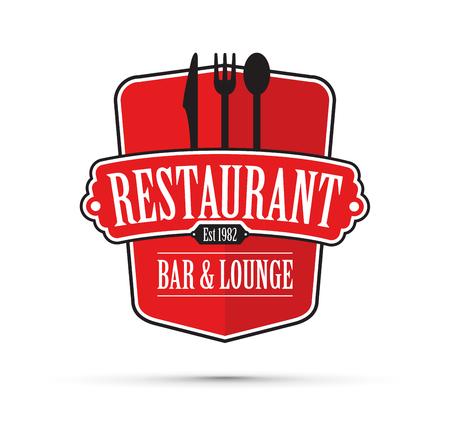 Red restaurant design vector concept. Illustration