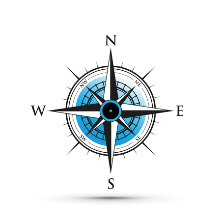Blue compass icon