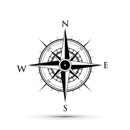 black compass illustration.