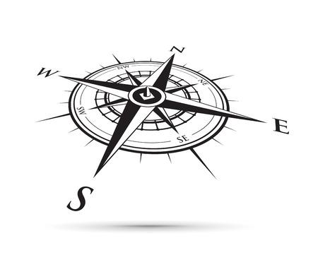 czarny kompas ilustracja.
