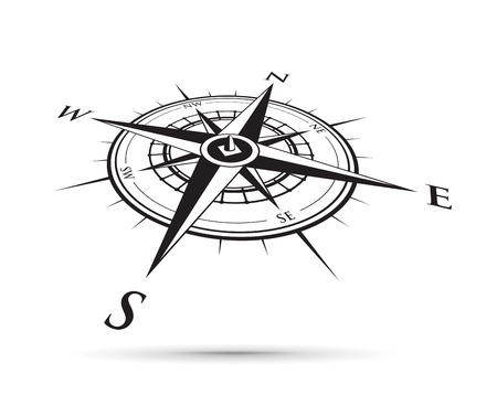 black compass illustration.