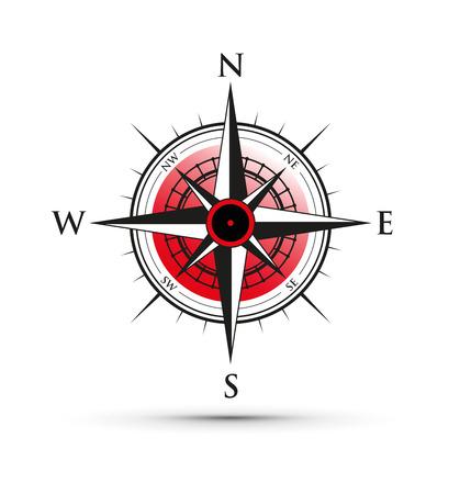 red compass illustration. Illustration