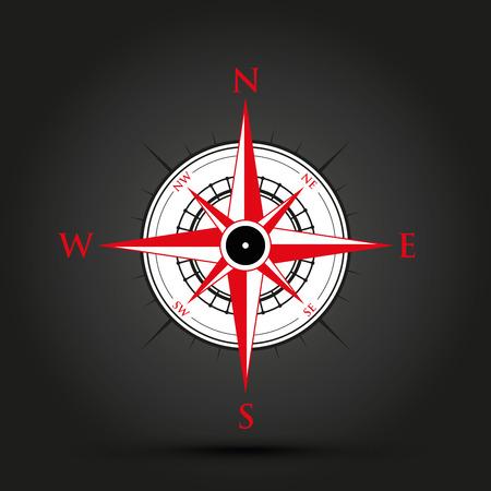 red compass Illustration