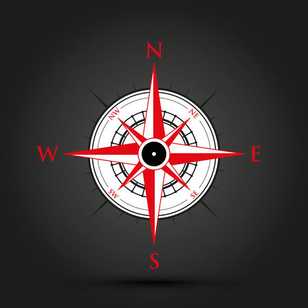 red compass Stock Illustratie