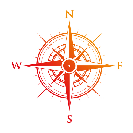 red compass Illustration