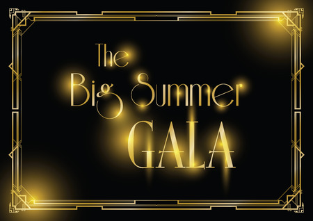 big gala ball art deco background