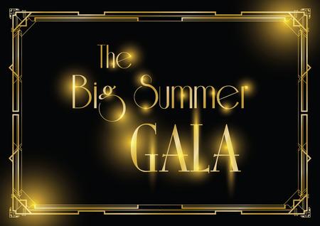 big gala ball art deco background Фото со стока - 98388254