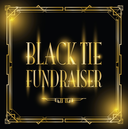 black tie fundraiser Art Deco background
