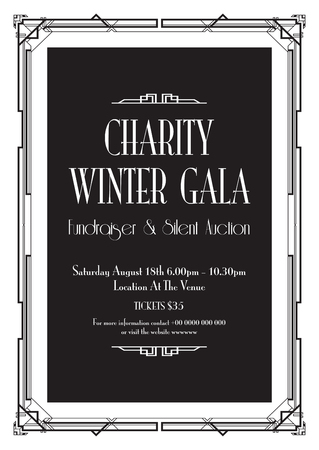 charity winter gala background  イラスト・ベクター素材