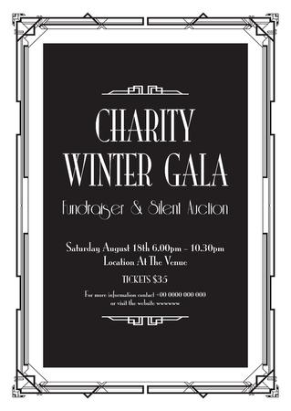 charity winter gala background Illusztráció