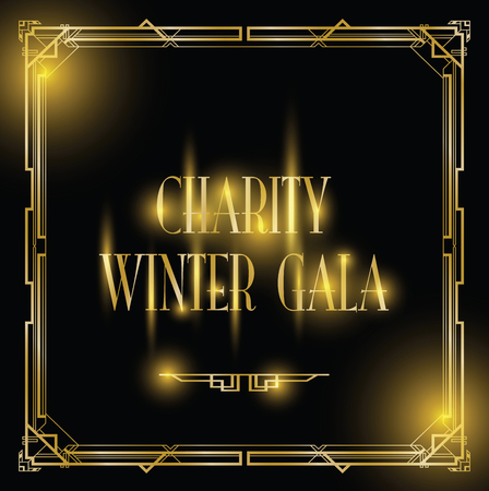 charity winter gala background Stock Illustratie