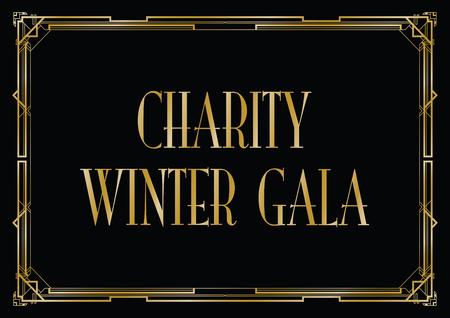 liefdadigheid winter gala achtergrond Vector Illustratie
