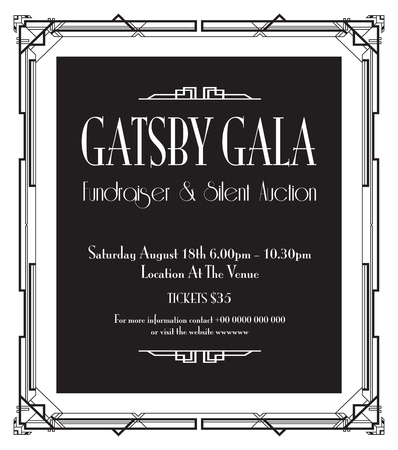 geweldige Gatsby-feestachtergrond