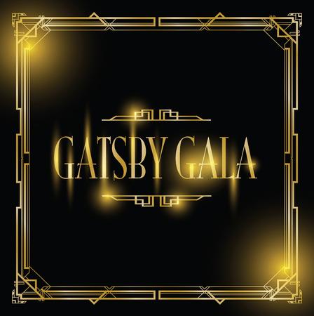 great Gatsby gala background Illusztráció