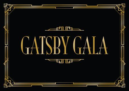 great Gatsby gala background Illustration