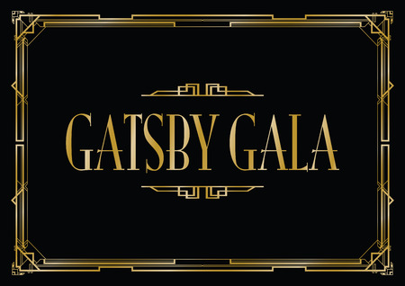 great Gatsby gala background Иллюстрация