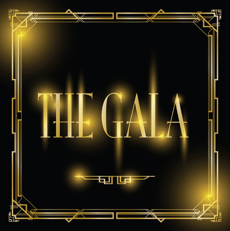 gala art deco background Illusztráció