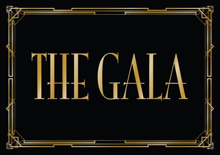 gala art deco achtergrond Vector Illustratie