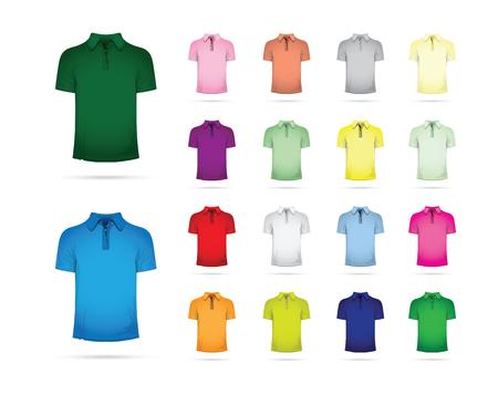 large set of t-shirts Illustration
