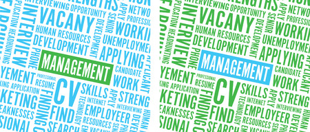 green and blue management background text Illustration