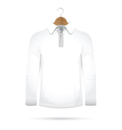 long sleeved t-shirt on a hanger 일러스트