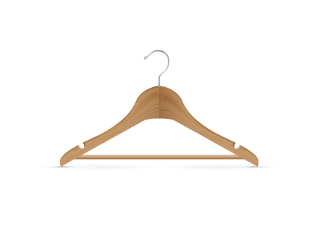 wooden coat hanger Illustration