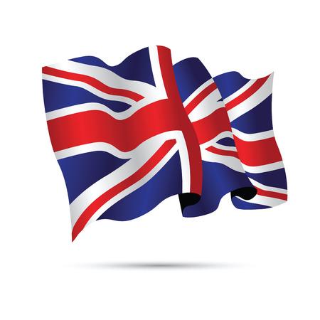 United Kingdom waving flag Illustration
