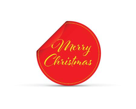 merry Christmas peeling sticker