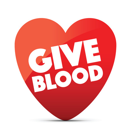 a give blood heart Illustration