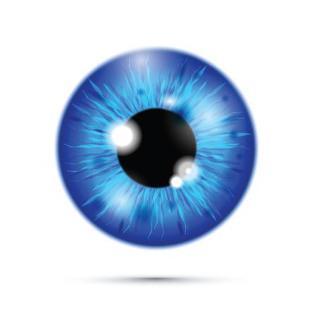 blauer realistischer Augapfel Vektorgrafik