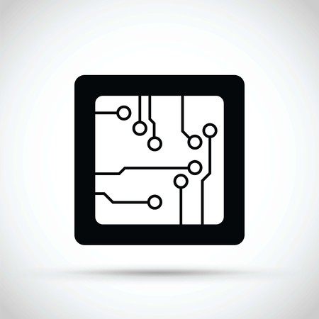 Computer chip icon Çizim