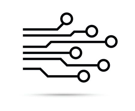 Icono de chip de computadora
