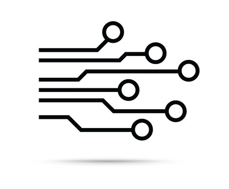 Computer chip icon Illustration