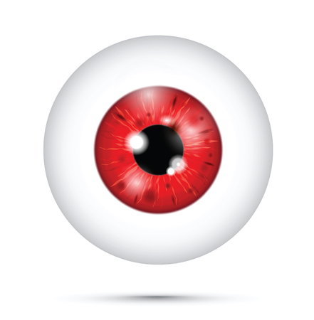 red realistic eyeball Ilustração