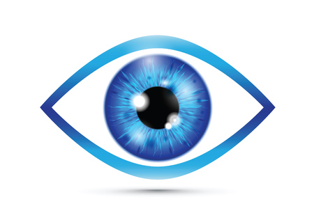 blue Realistic eyeball Banque d'images - 115684038