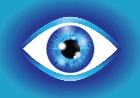 blue Realistic eyeball Banque d'images - 115684039