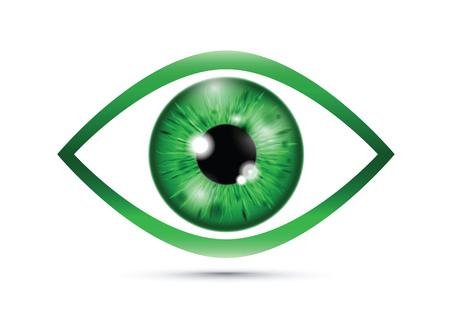 green Realistic eyeball Vector Illustratie