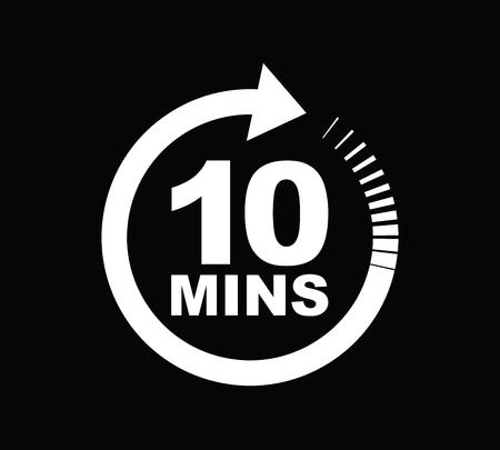 Zehn-Minuten-Symbol Vektorgrafik