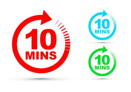 ensemble d'icônes de dix minutes