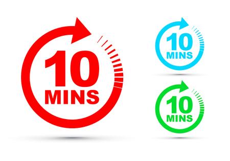 zehn Minuten Icon-Set