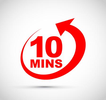 Zehn-Minuten-Symbol