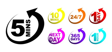 een kleurrijke icon timer set